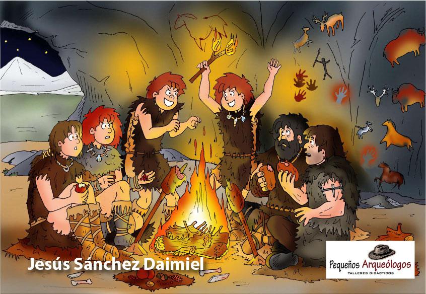 """Ilustración del libro """"Los Cazadores del Fuego"""""""
