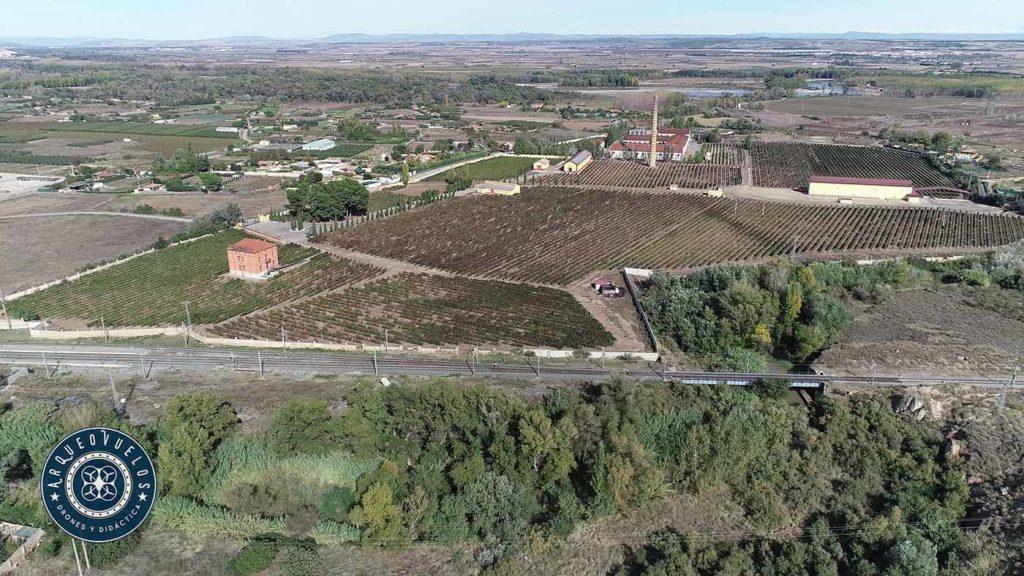 Vistas en altura desde el yacimiento hacia la margen derecha del Ebro (al fondo)